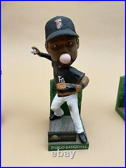 Lot Of 5 Fresno Grizzlies Baseball Bobble Heads Lincecum, Sandoval, Parker +