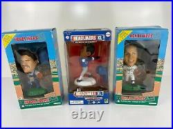 Lot of (3) Headliners XL Bobble Heads MLB Baseball PIAZZA, RIPKEN JR. & SOSA