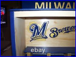 Milwaukee Brewers Bobble Head Display Case as pictured / layouts of your choice