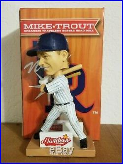 New MIKE TROUT Arkansas Travelers Bobble Head Doll Hardees KATV Baseball Travs