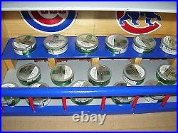 New York Yankees Bobble Head Display Case Handcrafted Pinewood with Red Logos