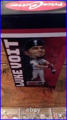 New York Yankees Luke Voit Red Hot, ! Lot of 3 Auto R. C. Springfield Bobblehead