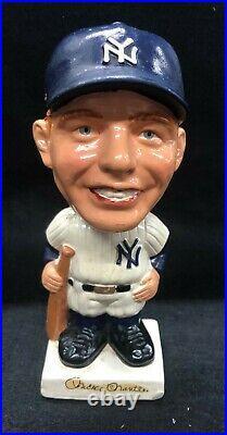 New York Yankees Mickey Mantle 1960's Original Vintage Bobblehead Nodder