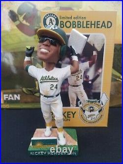 Oakland A's hall of famer Rickey Henderson stolen base record bobble bobblehead
