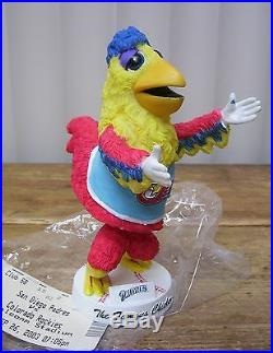 Padres Baseball Famous Chicken Hen Mascot Bobble Head Bobblehead w Ticket
