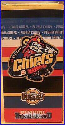 Peoria Chiefs Chicago Cubs Harry Caray Bobblehead 8/11/2006 Sga New In Box