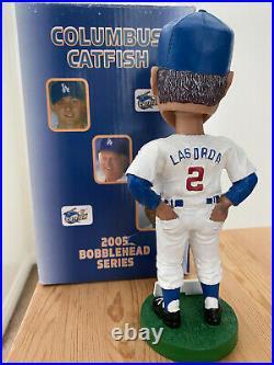 RARE Dodgers Tommy Lasorda 2005 Columbus Catfish Bobblehead WithBox HTF