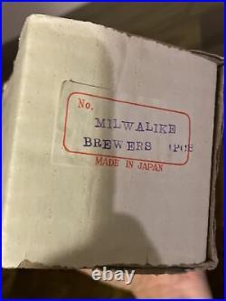 RARE VINTAGE MILWAUKEE BREWERS MASCOT BASEBALL BOBBLEHEAD NODDER WithBOX