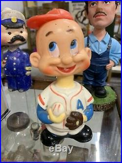 RARE Vintage ALPS Japan Wind-UP Baseball Player Toy