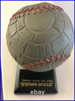 Rare San Francisco Giants Death Star baseball with Star Wars hat SGA