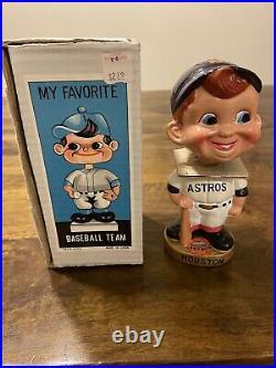 Rare Vintage Houston Astros Mascot Baseball Bobblehead Nodder With Box