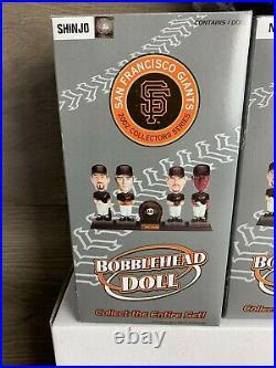 SF Giants 2002 Carl's Jr. Bobble Heads Set Bonds Aurilia Shinjo Nen Baseball NIB