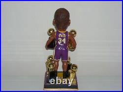 SHAQUILLE O'NEAL Los Angeles Lakers Bobblehead 3X Champs 3x MVP Trophy Edition