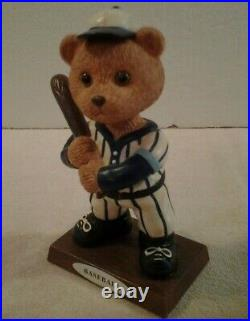 Set of 2 Russ Berrie Sports Bear bobble heads Baseball & Golf NEW