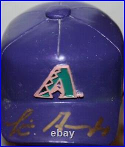 Set of (5) 2001 Signed AZ Diamondbacks Purple SGA Bobbleheads Auto Rare Bobbles