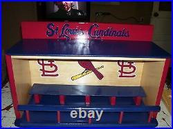 St. Louis Cardinals Bobble Head Display Case with STL & Bird Logo Pinewood