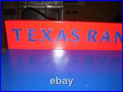 Texas Rangers Bobble Head Display Case Handcrafted Pinewood T logos with Ball