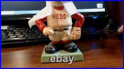 VINTAGE 1960s Cincinnati Reds Baseball Square GREEN Base Nodder Bobblehead