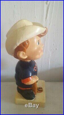 VINTAGE 1960s MLB BLUE JERSEY HOUSTON COLT45s 45's BASEBALL BOBBLEHEAD NODDER