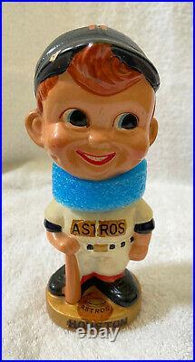 VINTAGE 1960s MLB HOUSTON ASTROS BASEBALL BOBBLEHEAD NODDER BOBBLE HEAD