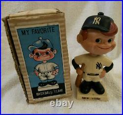 VINTAGE 1960s MLB NEW YORK YANKEES BASEBALL BOBBLEHEAD NODDER BOBBLE HEAD