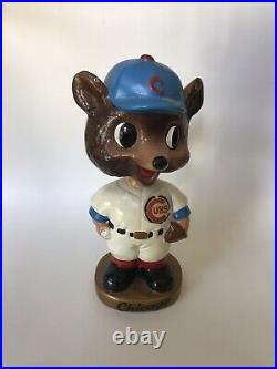 VINTAGE CHICAGO CUBS CUBBY BEAR MASCOT BOBBLEHEAD NODDER 1960's NICE EXAMPLE
