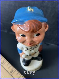 VINTAGE LOS ANGELES DODGERS BASEBALL PLAYER BATTER BOBBLEHEAD NODDER 1960's