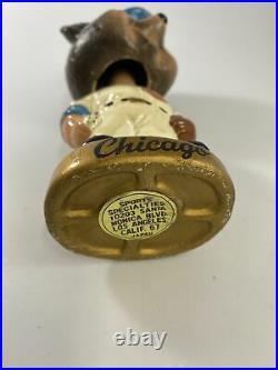 VINTAGE MLB CHICAGO CUBS CUBBY BEAR MASCOT BOBBLEHEAD NODDER 1960's