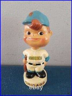 (VTG) 1960s chicago whitesox moon face mini bobble head nodder doll Japan rare