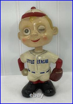 Vintage 1960s Baseball Catcher Bobblehead Nodder Blinking Eyes Ace Japan