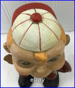 Vintage 1960s Baseball Catcher Bobblehead Nodder Blinking Eyes Japan