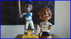 Vintage 1960s Braves Bobblehead and Brewers Hank Aaron Boxed Bobblehead