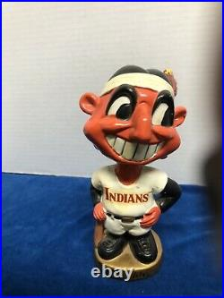 Vintage 1960s Cleveland Indians Chief Wahoo Mini Nodder Bobblehead