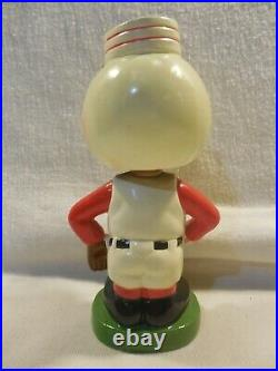 Vintage 1962 Japan Cincinnati Reds Mr Redlegs Bobblehead Nodder Round Green Base