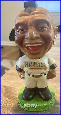 Vintage 1962 Milwaukee Braves green base Bobblehead