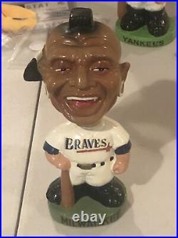 Vintage 1963-65 Milwaukee Braves green base Bobblehead, bobbinghead, nodder doll