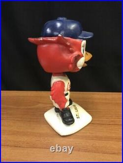 Vintage 1963 St. Louis Cardinals Bobble Head Bird Mascot Nodder