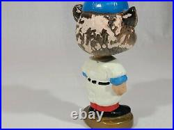 Vintage 1964-67 Chicago Cubs Gold Round Base Bobble Head