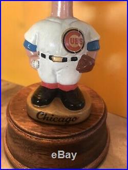 Vintage 1967 Chicago Cubs Bobble Head Nodder Sports Specialties Gold Base Japan
