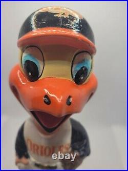 Vintage Baltimore Orioles Bobblehead mascot Nodder 1960's Original Japan MLB