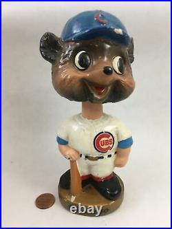 Vintage Chicago Cubs Bobble Head Mascot Doll 7 Nodder with Box