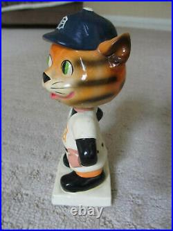 Vintage Detroit Tigers Bobblehead Original White Square Base Rare Baseball