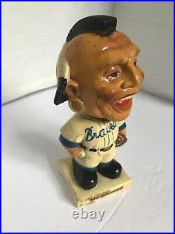 Vintage Milwaukee Braves BOBBLEHEAD 1961-63 White Base Good Condition RARE HTF