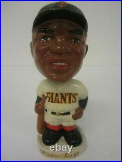 Willie Mays San Francisco Giants 1962 Bobble Head Nodder Dark Face Round Base